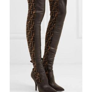 Fendi Black over the knee boots